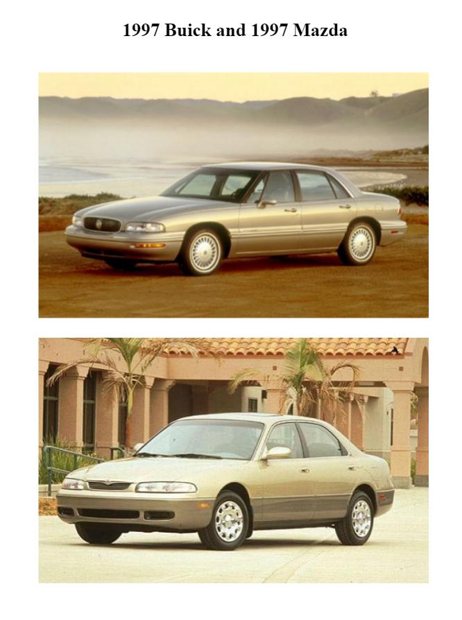 1997 Buick and Mazda